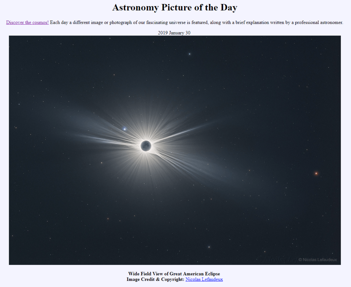 astronomy picture of the day website
