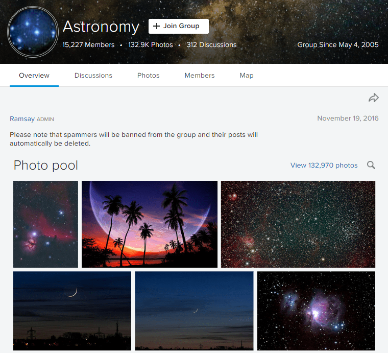 flickr astronomy group