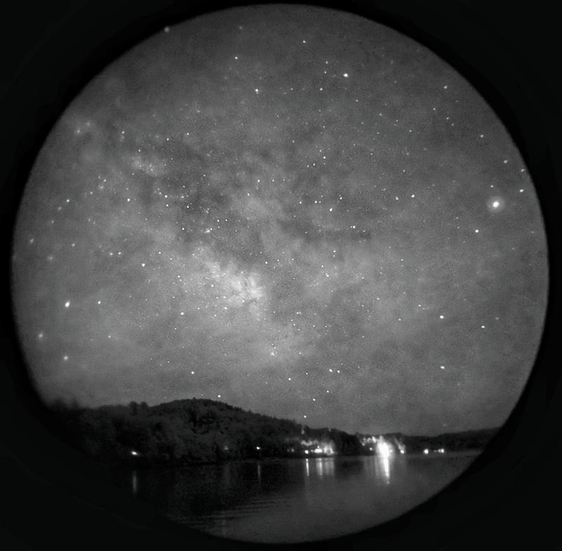 The Milky Way through a night vision device